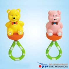 Baby Rattle   Bear/Pig #baby #toys