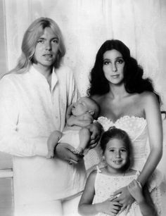 Cher and family for People Weekly, 1976 by John Engstead