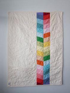 Rainbow Herringbone Stripe Baby Quilt quilt baby, baby quilts, babi quilt, quilts with stripes, quilt herringbone, rainbow baby quilt, stripe quilt, quilt rainbow, herringbon stripe