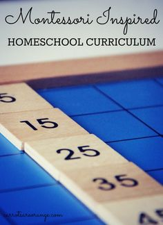 Montessori Inspired Homeschool Curriculum
