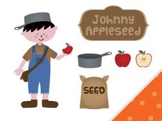 FREE Johnny Appleseed clip art