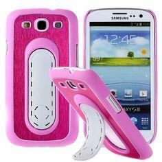 SIII Bend Stand (Vaaleanpunainen) Samsung Galaxy S3 Suojakuori