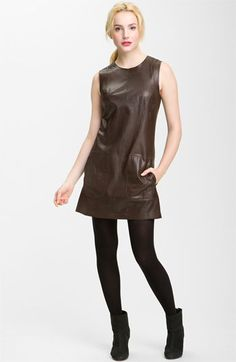 Vince Leather Shift Dress available at #Nordstrom