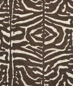 Ralph Lauren Serengeti Linen Zebra Mahogany