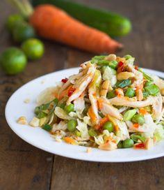 Asian Chicken Cabbage Salad w/ Sesame Chili Vinaigrette