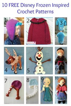 10 FREE Disney Frozen Inspired Crochet Patterns | The Steady Hand. I wish I had the crochet skills! Check out the Elsa/Anna hats! @alainademers