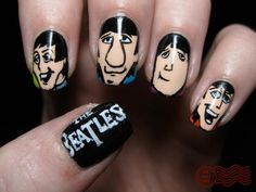The Beatles nails? A design even my boyfriend would love!