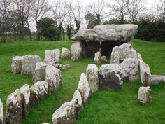 Faldouet Dolmen - It is likely that the horseshoe chamber was the original passage grave whose passage was dug out to make way for a second passage grave.