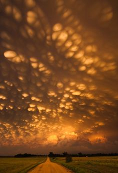 Mammatus clouds over Nebraska