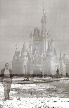 Walt Disney walking his dream. I can't explain them impact this picture has on me. So much imagination and spirit in one man! disney vision, walt disney, castl, waltdisney, disney world pictures, dream, disney pictures, disney poster, disney walk