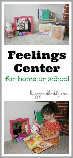 A Simple Feelings Center for Home or Classroom~ Buggy and Buddy