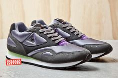 Le Coq Sportif Flash | Charcoal, Green & Purple
