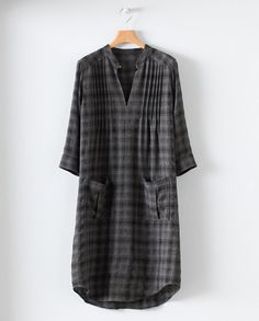 Wool Check Tunic by Poetry