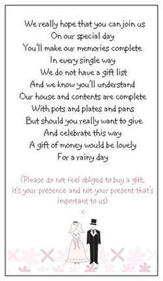 Wedaholiccom The Etiquette Of Asking For Cash Wedding Gifts Rachael ...
