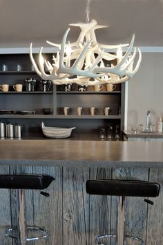 White Faux Antler Chandelier Antler Decorating by TheShabbyAntler, $499.00