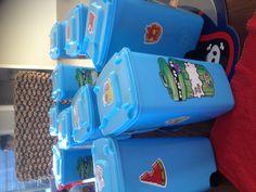Trashie party bins