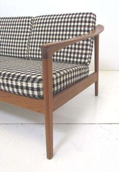 Folke Ohlsson; Teak Frame Sofa for Dux, 1960s.