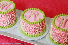 Little Monogrammed Cakes