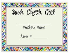 Easy to manage your classroom library with this simple, student friendly chart to sign out your books to let the students borrow.Cover page inclu...