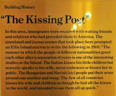 The Kissing Post at Ellis Island