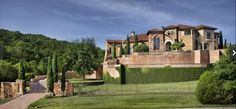 Hilltop Tuscan villa, Austin, Texas