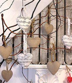 paper mache heart ornament