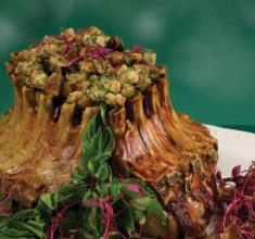 Christmas Roast with Gluten-Free Apple Cranberry Stuffing