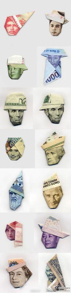 Billetes doblados #money   Whuih... ada 1000an #Indonesia Jadul! :D