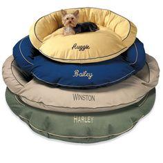 Monogrammed dog beds :)
