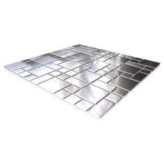 Modern Cobble Pattern Stainless Steel Mosaic Tile