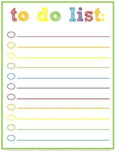 Free Printable To Do Lists 20 Free printable checklist templates ...