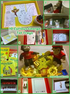 Check out 10 ways to play with Curious George in tot school!