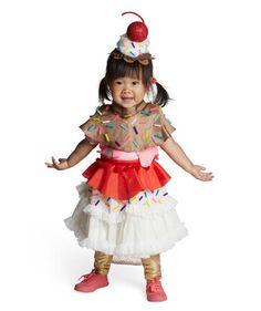 24 Homemade Kids' Halloween Costumes: No-Sew DIY Ice Cream Sundae | via Real Simple #halloween2013