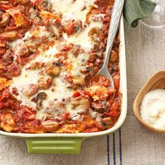 Weeknight Ravioli Lasagna with Chianti Sauce