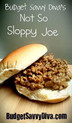 Budget Savvy Diva's Not So Sloppy Joe.  Crock Pot Recipe