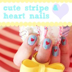 how cute are these nails for Valentine's day?!?