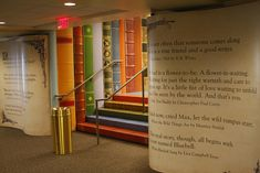 Children enter the Kansas City Public Library Children's Area through the pages of a book. 14 West 10th Street, Kansas City, MO
