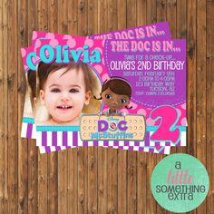 Doc McStuffins Invitation- Doc McStuffins Birthday Invitation-Printable Invitation. $9.50, via Etsy.