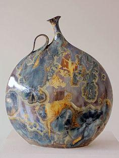American Artist Potter Alain Fichot (1952) | Purple-Crystal