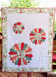 ~ tutorial ~ Dresden Burst baby quilt by Melissa Mortenson for Riley Blake Designs, seen at Quilt Inspiration