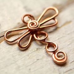 Copper Dragonfly Wirework - Small Dragonflies - Handmade Connector, Charm, or Pendant, Solid Copper Wire. $11.00, via Etsy.