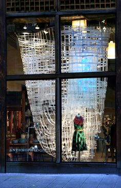 Anthropologie shop visual merchandising display installation, Seattle, WA