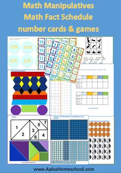 FREE Math Fact Memorization Scheduler and Number Cards for math games