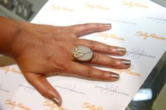 An Azaara cocktail ring + Sally Hansen nail art = a true #FingerParty  at Greenwich Jewelers