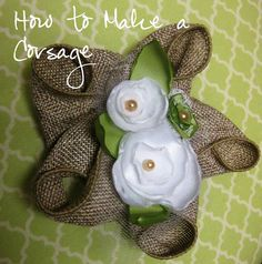 How to make a bridal or baby shower corsage