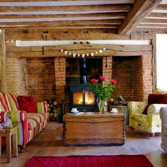 A big Inglenook Fireplace, to snuggle around in the winter.