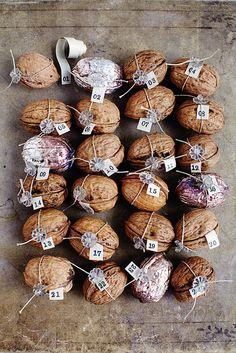 Image Via: Decor8 holiday, winter, advent calendars, paul magazin, magazines, vintage furniture, sweet paul, walnuts, christma