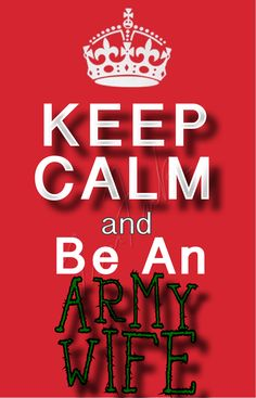 Be an army wife