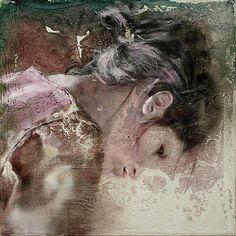 Pier Toffoletti.-Otra preciosa cabeza enriquecida por la poesía del tratamiento pictorico.