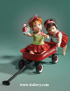 love the little wagon and the dolls
